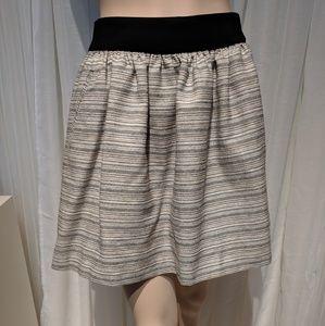 Banana Republic striped Aline skirt